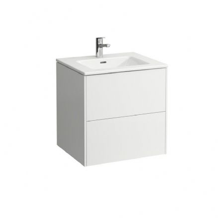 864960 - Laufen Pro S Slim 600mm x 500mm Washbasin & Base Vanity Unit - 8.6496.0